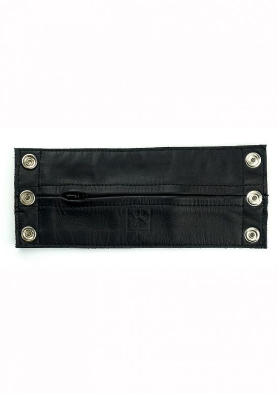 Prowler Red Leather Wrist Wallet - XLarge - Black/White