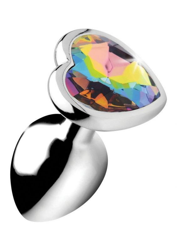 Booty Sparks Rainbow Prism Heart Anal Plug - Small