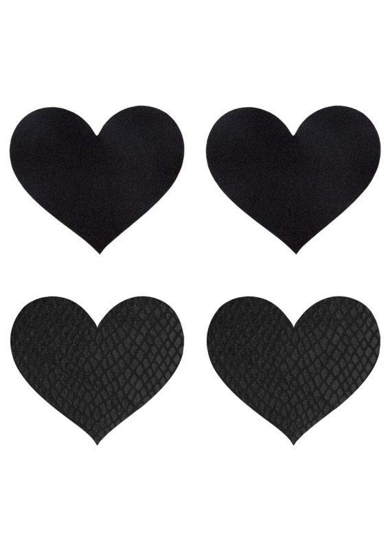 Peekaboo Classic Black Hearts Pasties